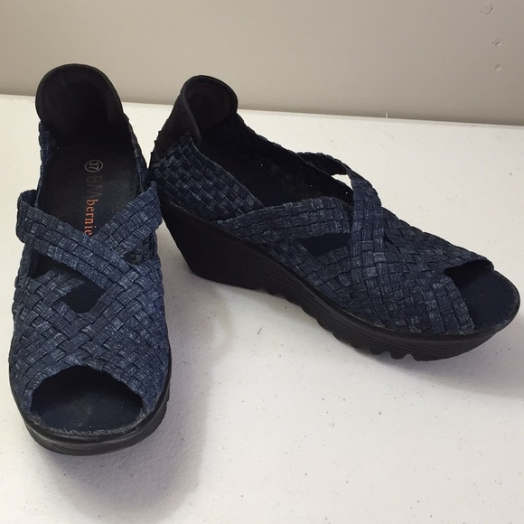 Bernie Mev Woven Platform Shoe